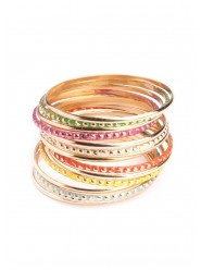 Brightly Colored Bangles in Multi  $18.00