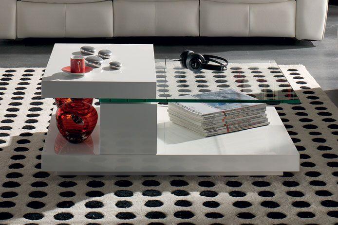 Mesa de centro giratoria cristal oferta mobiliari - Mesas de centro de cristal ...