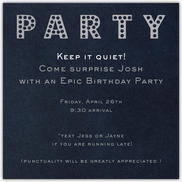 Birthday Invitation Wording