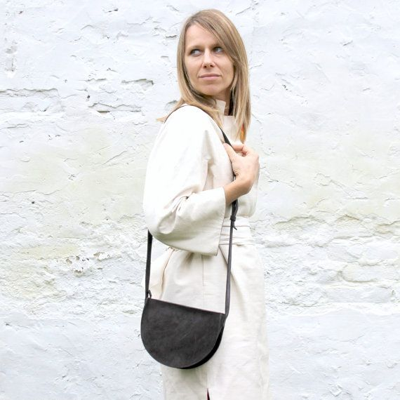 ON sale Black small crossbody bag mini black leather by BogaBag