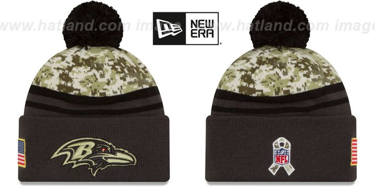 Ravens 2016 SALUTE-TO-SERVICE Knit Beanie Hat by New Era