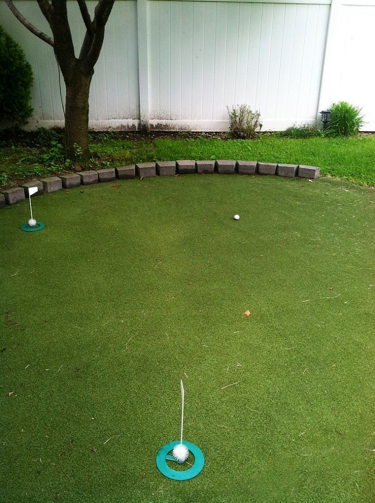 diy budget friendly backyard golf green just in time for father 39 s day