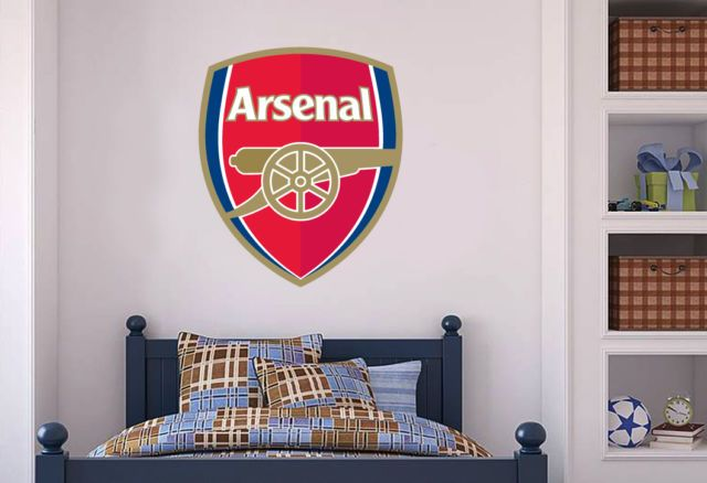 Official Arsenal Football Club Wall Sticker Arsenal Decal Set Vinyl Ebay Arsenal Football Club