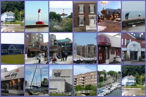 Downtown Oakville, Oakville harbour, Oakville pier, Oakville library, Lake Ontario