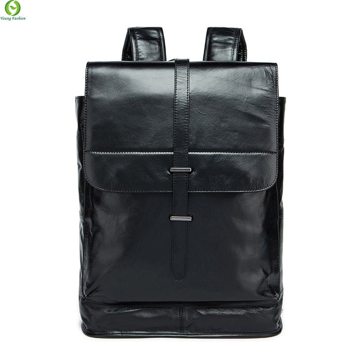 Fashion Genuine leather men backpack