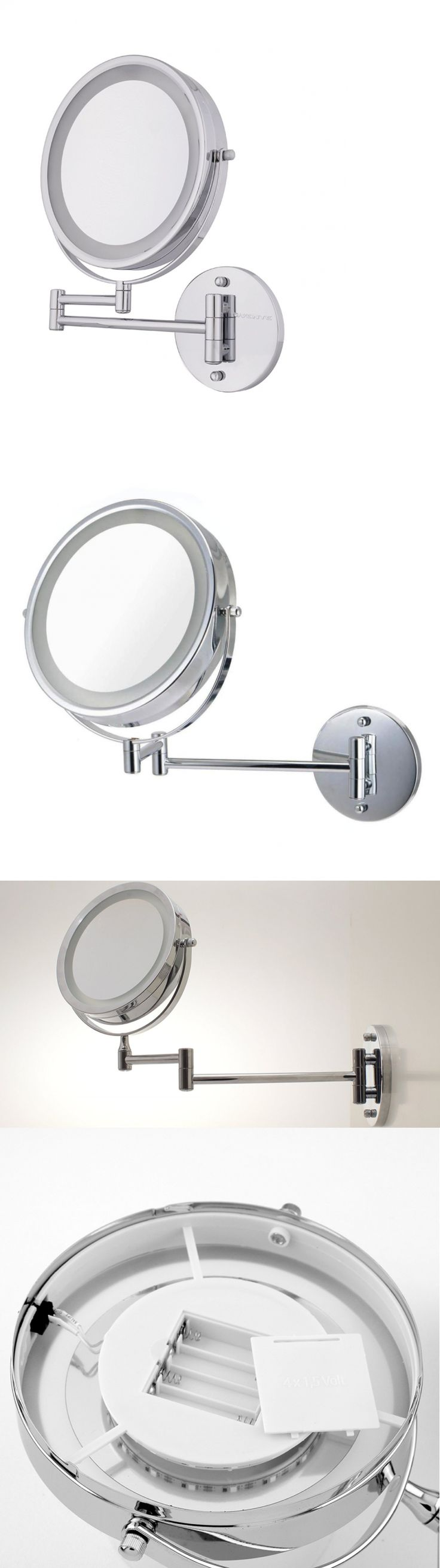 Top 6 bathroom mirrors ebay - Makeup Mirrors Ovente Battery Operated Led Lighted Wall Mount Vanity Makeup Mirror 1x 10x