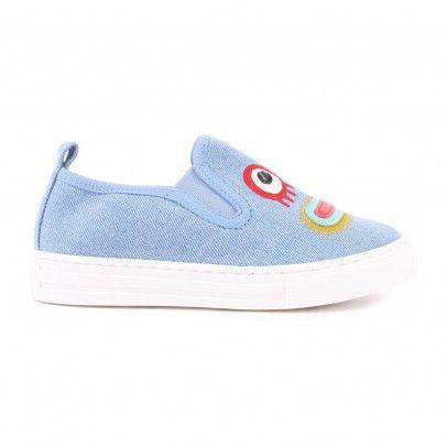 Leo Monster Slip-On Shoes Denim  Stella McCartney Kids