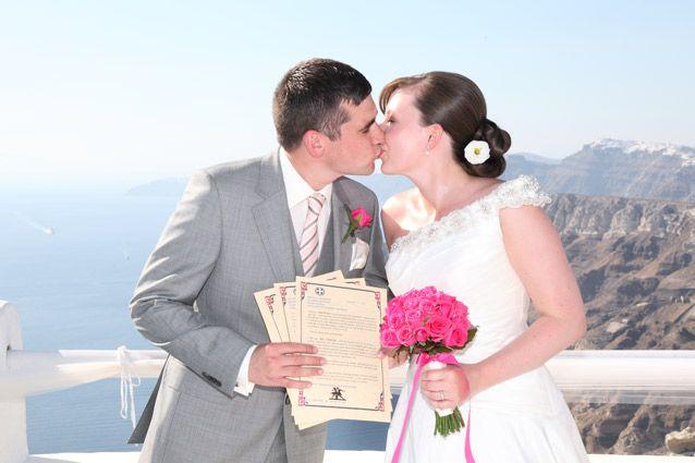 Just married! Get married in Santorini
