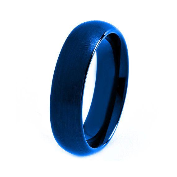 blue tungsten ring red men tungsten rings red wedding On blue tungsten mens wedding band