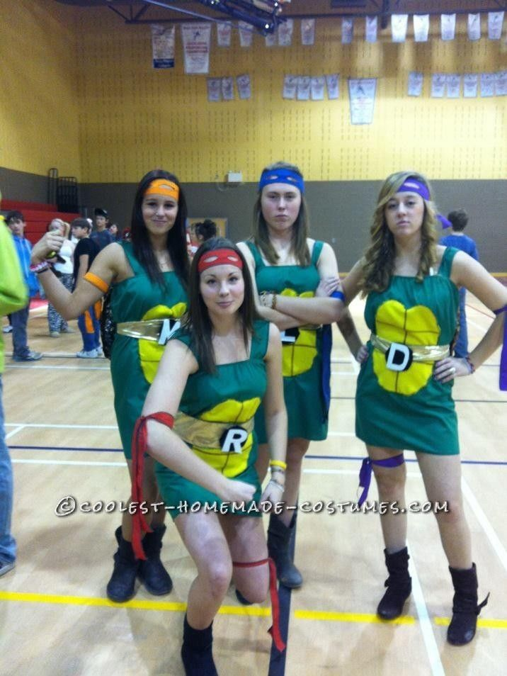 62 best ninja turtle costume ideas images on pinterest halloween quick and easy ninja turtle group costume for girls solutioingenieria Gallery