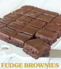 Fudge brownies | Tidningen Hembakat