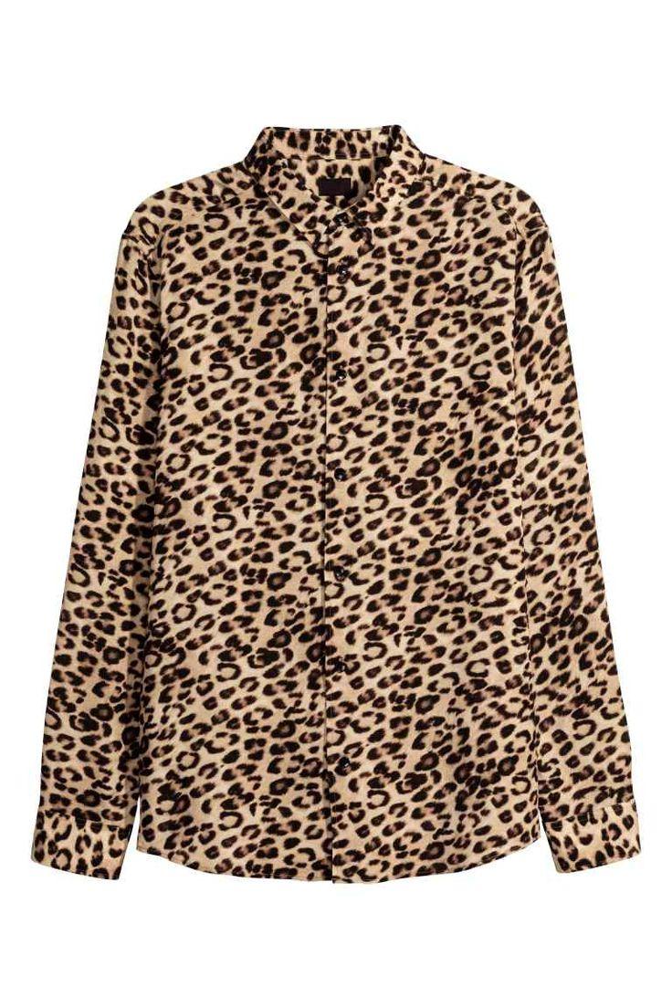 Overhemd met luipaardprint - Luipaarddessin - HEREN | H&M NL