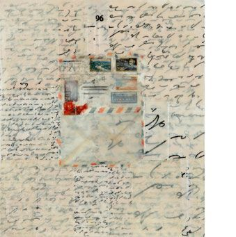 Page A by Bebe Krimmer Acrylic & collage 16 X 14 inches