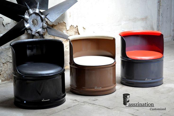 Fass Sessel  Lounge Sessel aus 200 l Neu Fass  von Fasszination Customized auf DaWanda.com