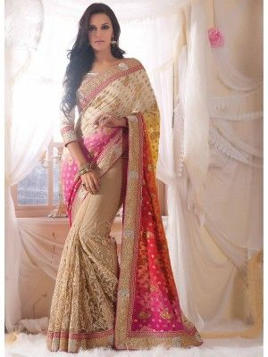 Beige Viscose Net Amazing Designer Saree www.parisworld.in sari shopping Net saree at parisworld, online Net saree,wedding Net sarees, saree shopping, Online Designer saree, Buy online designer saree, Designer saree, Saree Shopping, Online saree shopping, Online designer saree shopping, Paris Surat saree, Surat saree, parisworld India, parisworld surat India,   www.parisworld.in