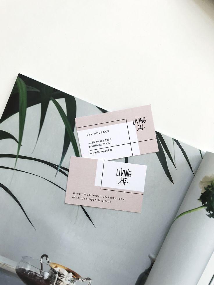 Modern logo design and business cards for interior webshop.