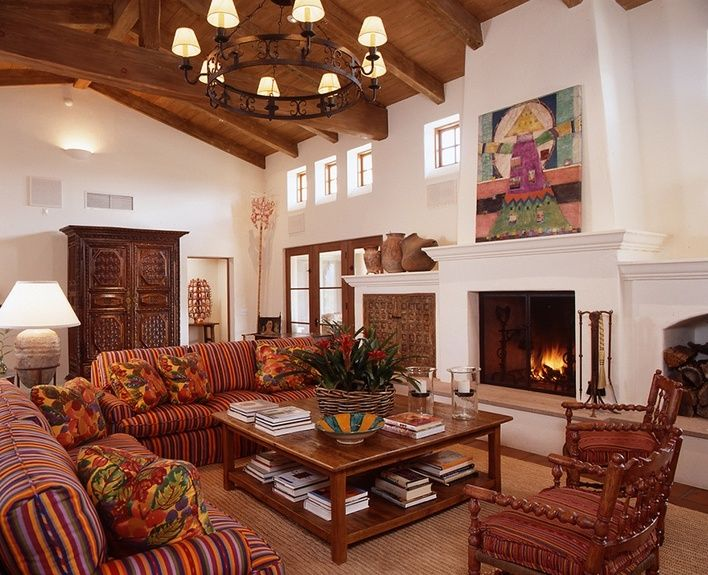 Interior Design For A Mexican Hacienda In Santa Ynez CA By Ann James And Associates
