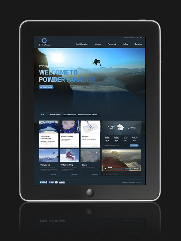 Stranda Ski Resort / ipad