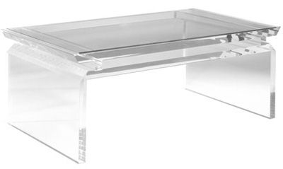 Modern Chinoise Lucite Coffee Table