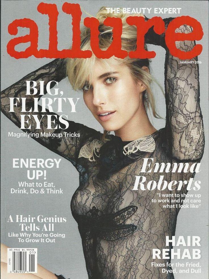 Allure magazine Emma Roberts Hair rehab Energy Makeup eye tricks Fitness studios
