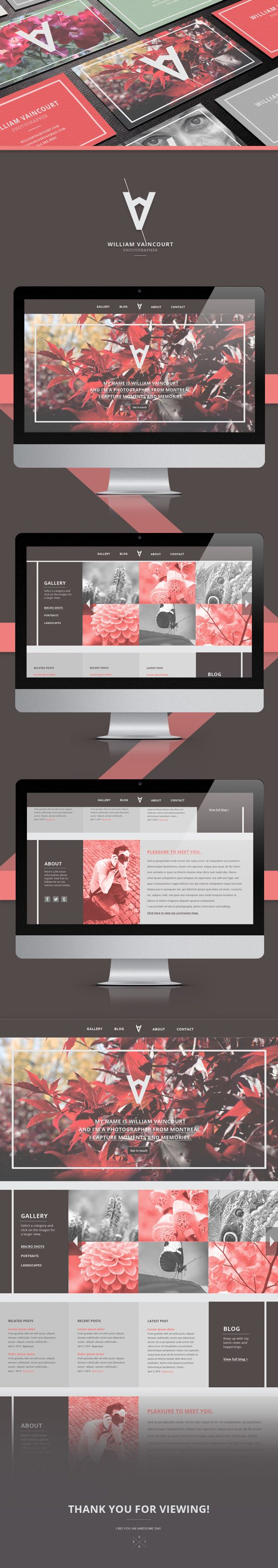 William-Vaincourt-Photographer-(Fictional) { Way to present web design } personal #branding and #identity