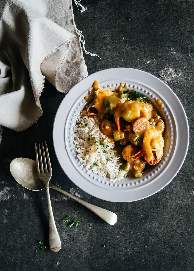 prawn and chorizo gumbo rice