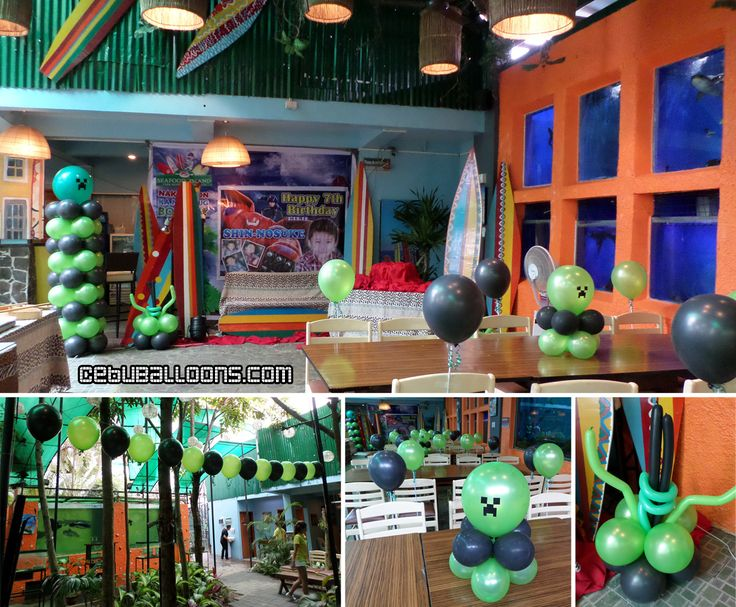 33 best images about minecraft on pinterest mesas for Balloon decoration packages manila