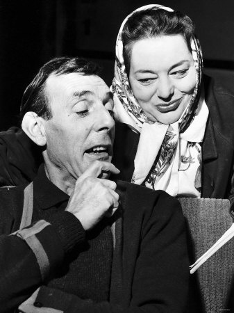 Eric Sykes Comedian and Actor with Hattie Jaques Actress Rehearsing a Sketch For a TV Show.