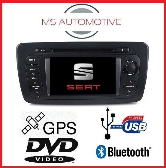 "SEAT IBIZA SAT NAV DVD GPS 7"" TOUCHSCREEN 2009-2013 BLUETOOTH SD  in Vehicle Parts & Accessories, GPS, Audio & In-Car Technology, GPS & Sat Nav 