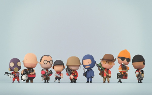 3D Character Illustrations by Slid3