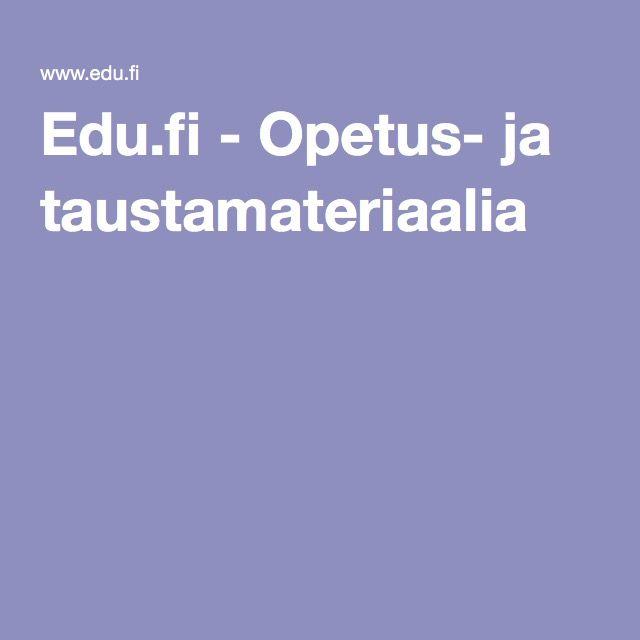 Edu.fi - Opetus- ja taustamateriaalia