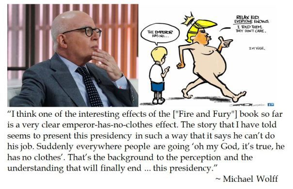 Michael Wolff Thinks That Fire And Fury Helps The Public See That Trump Is The Emperor Who Has No Clothes Fury Everyone Knows Books