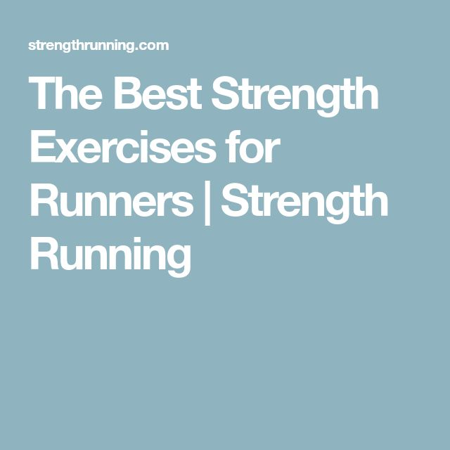 strength exercises for runners pdf