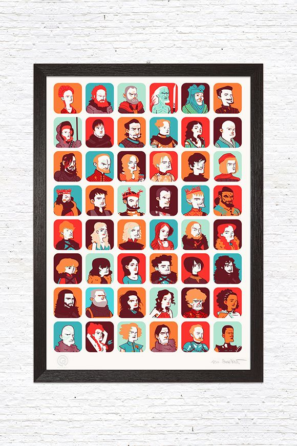 """""""Game of Thrones"""", a limited edition illustration designed by Sara Penco for GustoRobusto.com"""