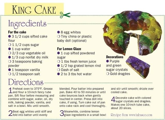 Recipes for mardi gras king cake