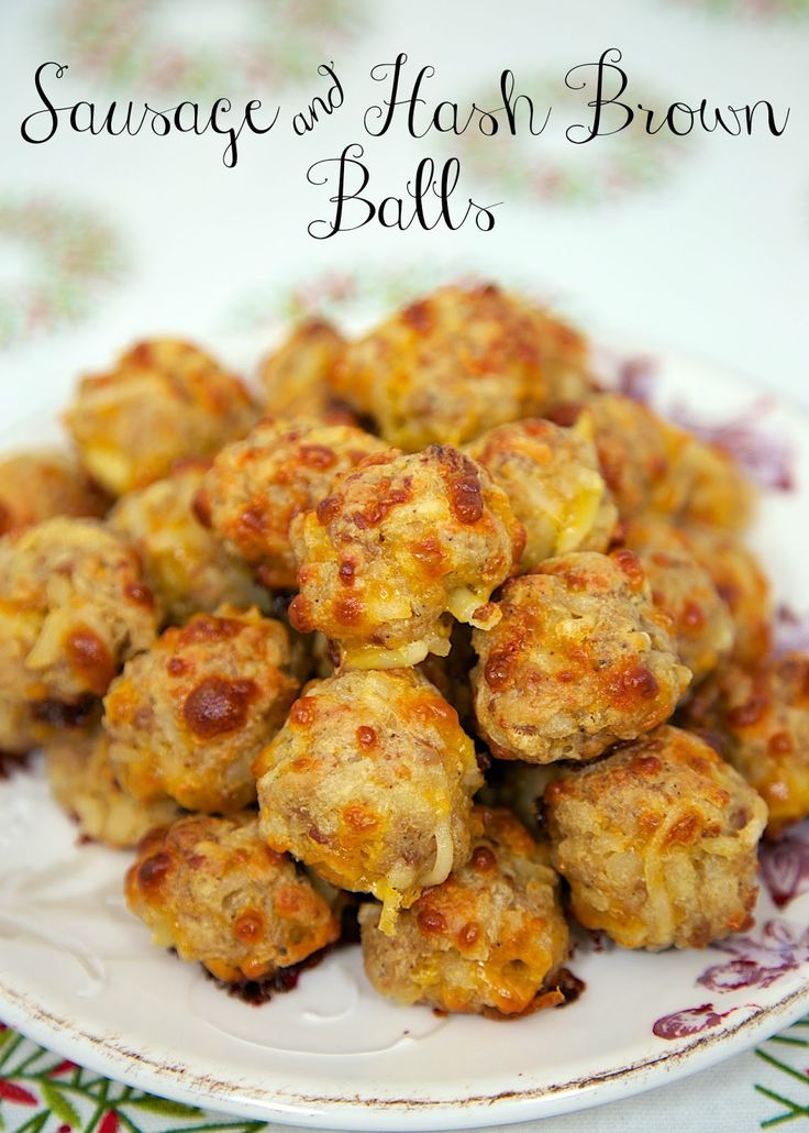 Sausage & Hash Brown Balls  - mix together and freezer for a quick snack. Perfect for Christmas morning!