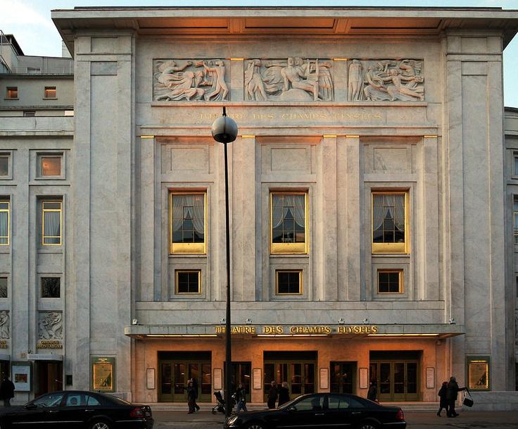 auguste perret(1874-1954),  théâtre des champs-élysées, 1913. paris, france. photo Pline