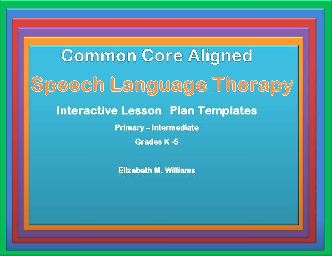 17 Best Images About Speech Resources On Pinterest Therapy Ideas Student Centered Resources