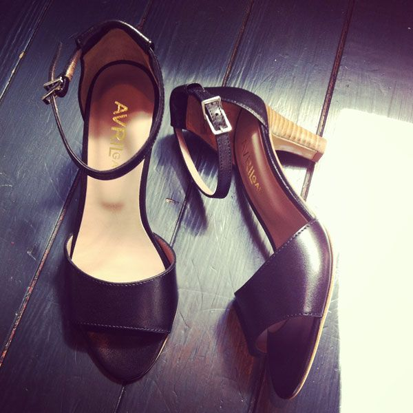 Avril Gau Black Strap Sandals