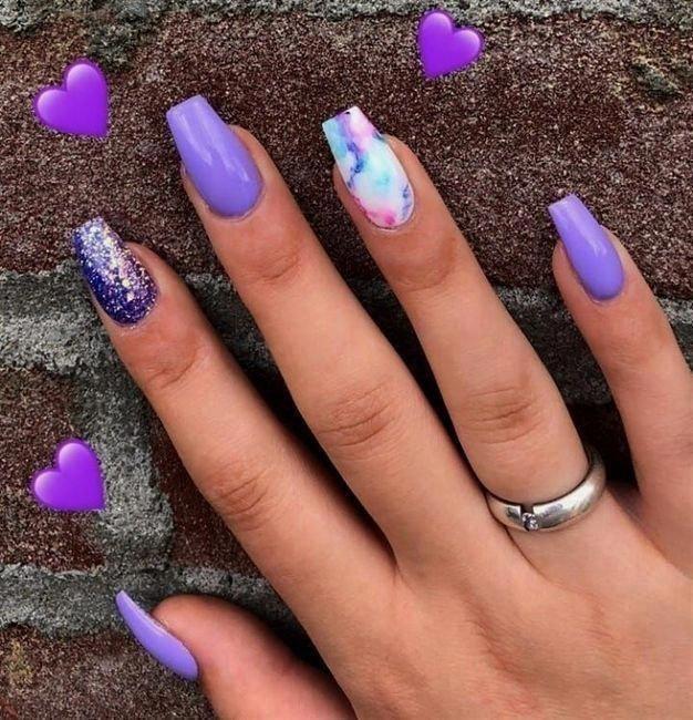Uñas Color Violeta Purplenail Elegant Nails Love Nails
