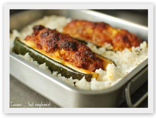 Courgette farcie au Chorizo - Cuisiner... tout Simplement, Le Blog de cuisine de Nathalie