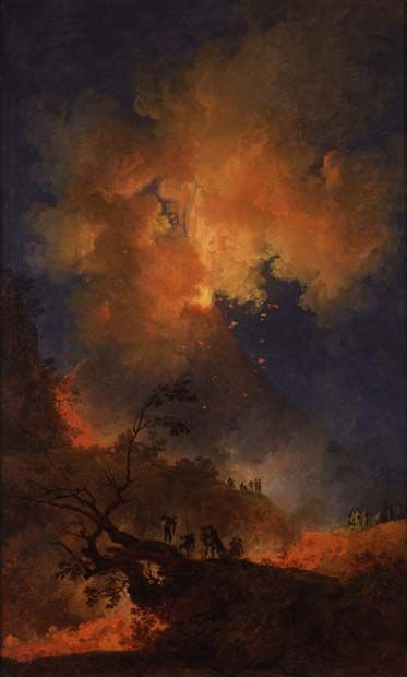 Vesuvius Erupting at Night    Pierre-Jaques Volaire (1729 - about 1792)    Oil on canvas