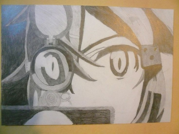 Personaje. Dibujo con grafito. Gonzalo C.