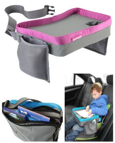 I might be able to make this in a simpler version. | Kids Travel Play Tray Bag- Childrens Car Seat Buggy Pushchair Lap Tray