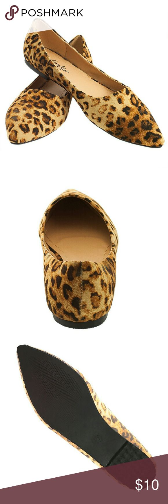NIB Tory K Leopard Flats B1350 lt brown 8.5 Brand new Tory K light-leopard pointy-toed ballerina flats. Comfortable and true to size. Selling super cheap because the box they came in is a little damaged, but the flats are in perfect condition! Tory K Shoes Flats & Loafers