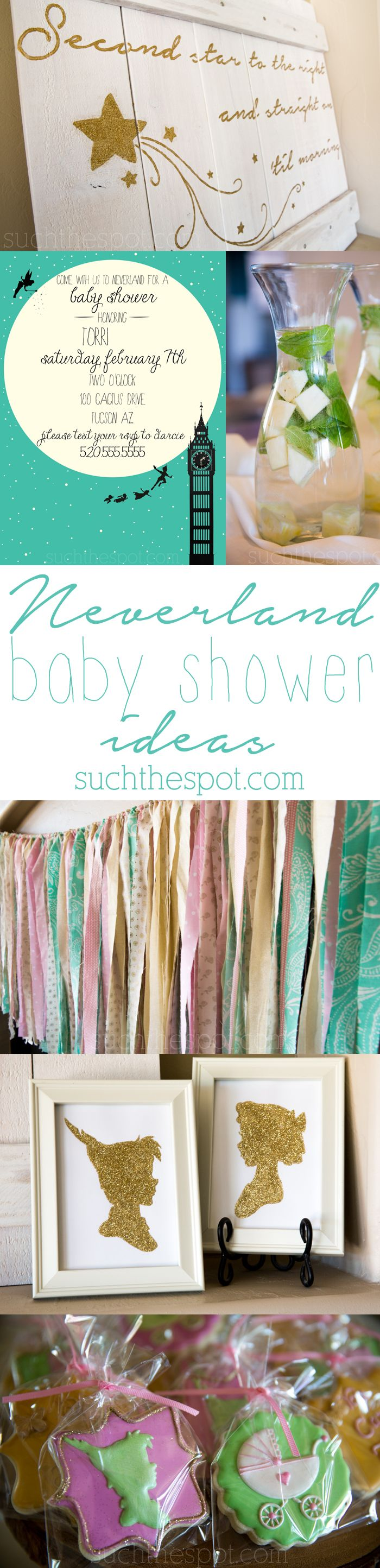 LOVE these ideas!! | Neverland themed baby shower