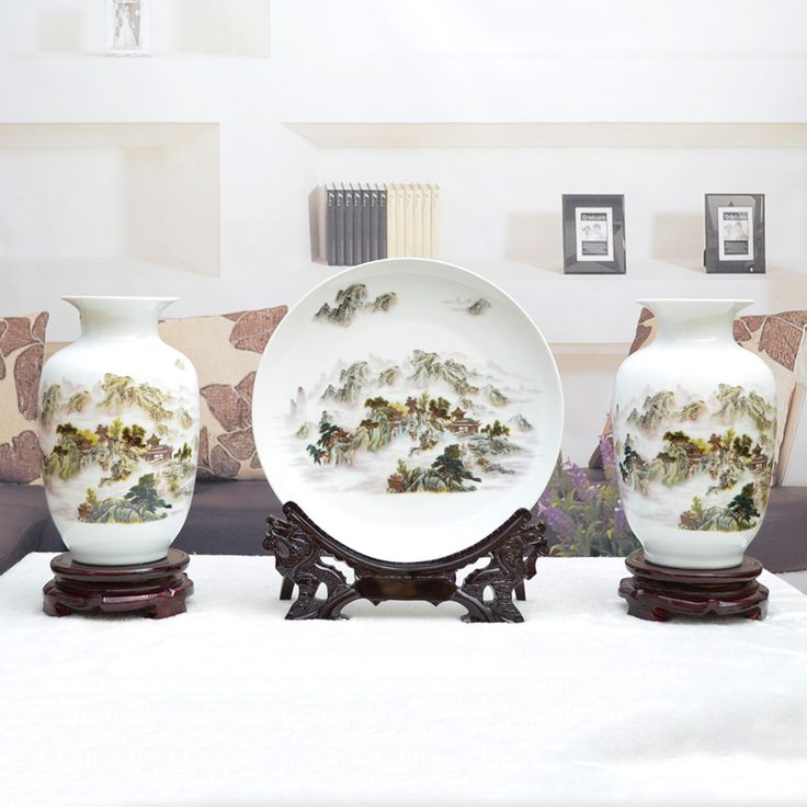 >> Click to Buy << Jingdezhen ceramic vase ornaments white Home Furnishing modern Chinese living decoration three piece of flower #Affiliate