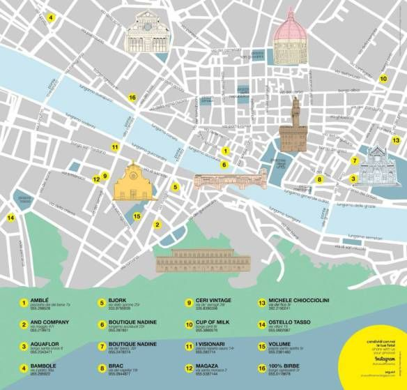 Follow the itinerary of Unusual #Florence
