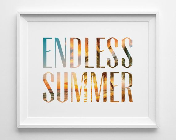 Endless Summer Poster Beach Decor Surf Art by SweetPeonyPress, $10.00