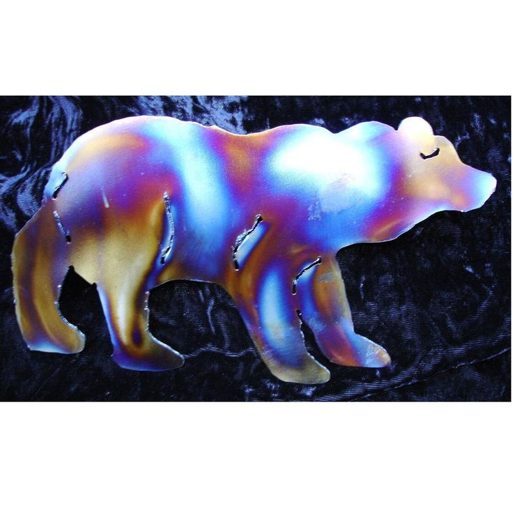 BEAR Black Brown Grizzly House Mountain Home Metal Wall Art Decor Lodge Cabin Interior by metalshine on Etsy https://www.etsy.com/listing/201796443/bear-black-brown-grizzly-house-mountain